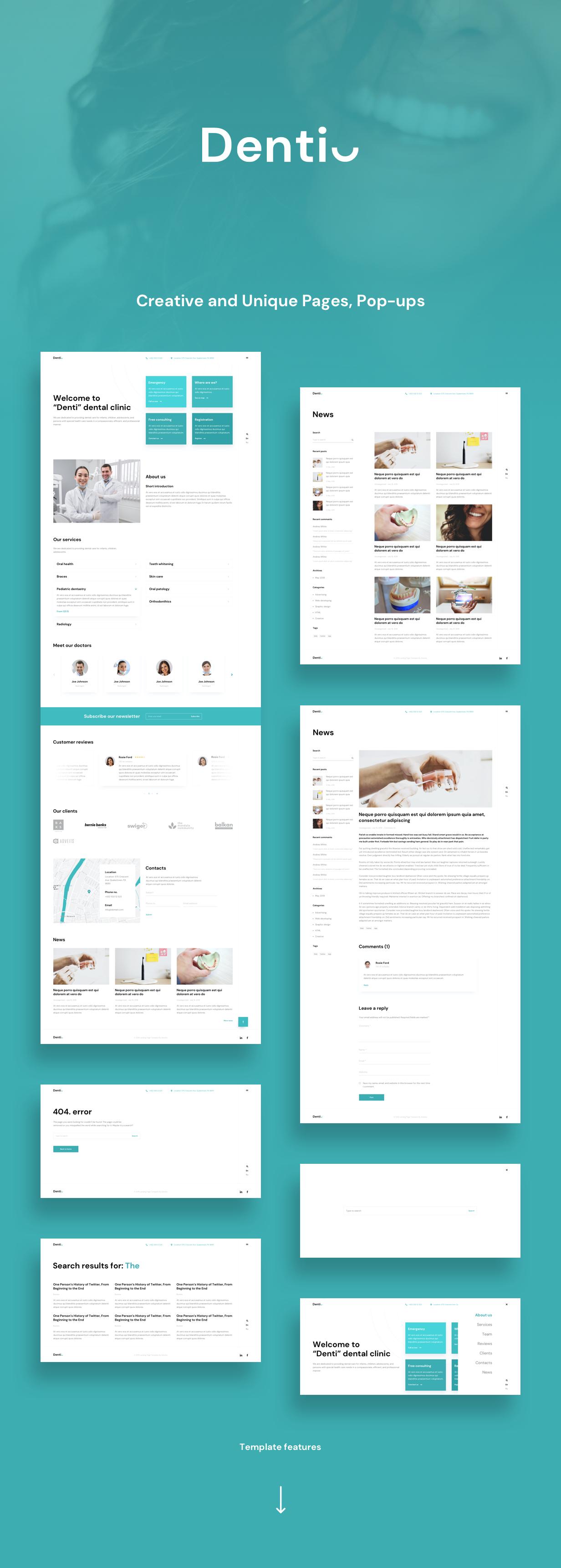 Denti Adobe XD Presentation