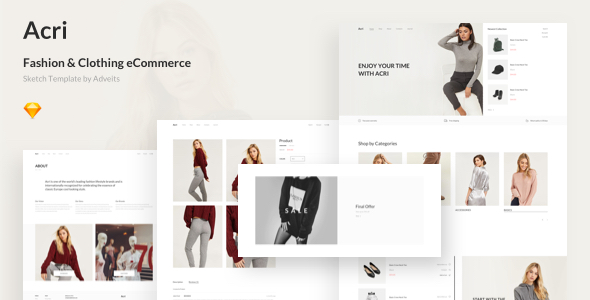 Acri – Fashion & Clothing eCommerce Sketch Template