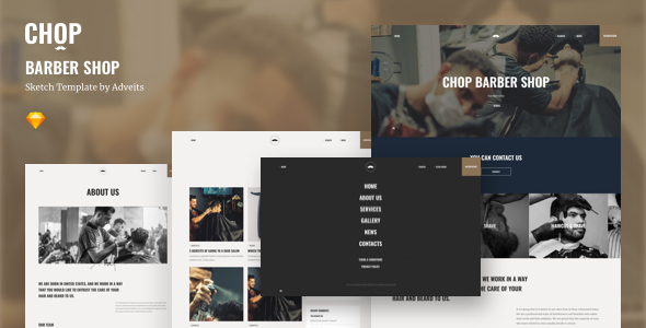 Chop – Barber Shop Sketch Template