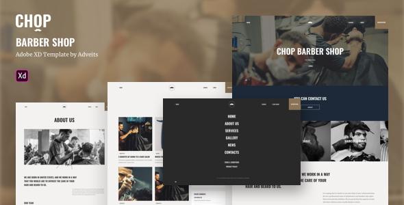 Chop – Barber Shop Adobe XD Template
