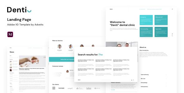 Denti – Landing page Adobe XD Template