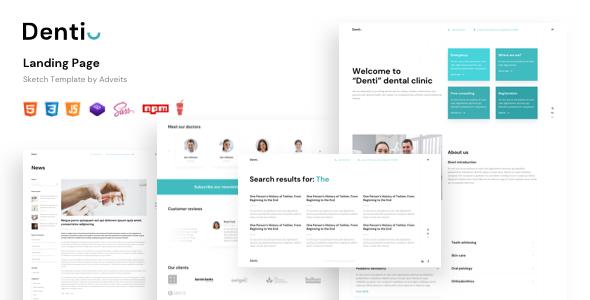 Denti – Landing page HTML Template