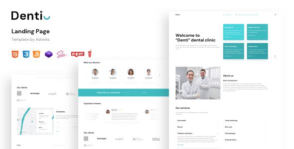 Denti – Landing Page Template