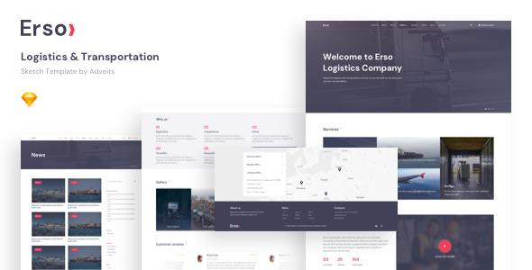 Erso – Logistics & Transportation Sketch Template