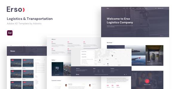 Erso – Logistics & Transportation Adobe XD Template