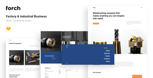 Forch – Factory & Industrial Business Sketch Template