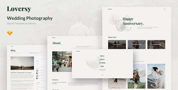 Loversy – Wedding Photography Sketch Template