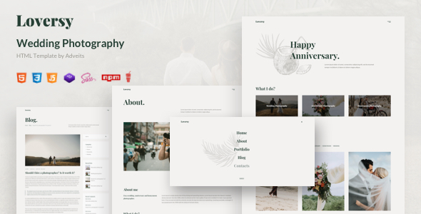 Loversy – Wedding Photography HTML Template