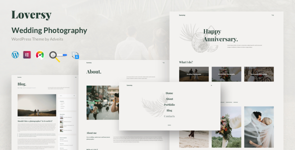 Loversy – Wedding Photography WordPress Theme