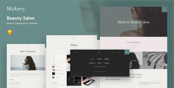 Mykery – Beauty Salon Sketch Template