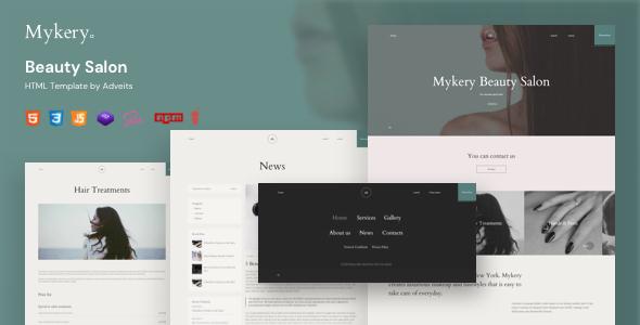 Mykery – Beauty Salon HTML Template