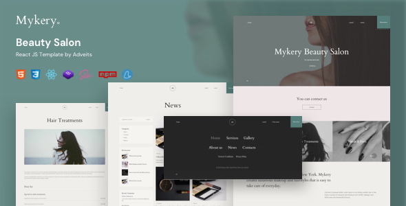 Mykery – Beauty Salon React JS Template
