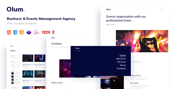 Olum – Business & Events Management Agency HTML Template