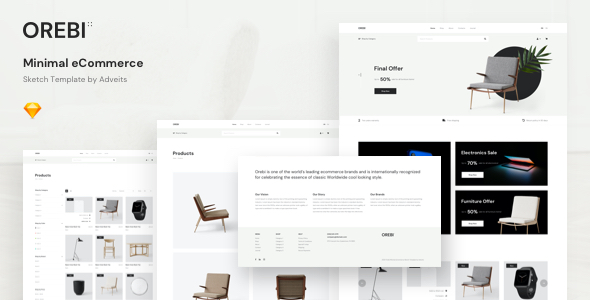 Orebi – Minimal eCommerce Sketch Template