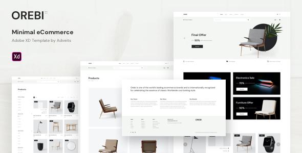 Orebi – Minimal eCommerce Adobe XD Template