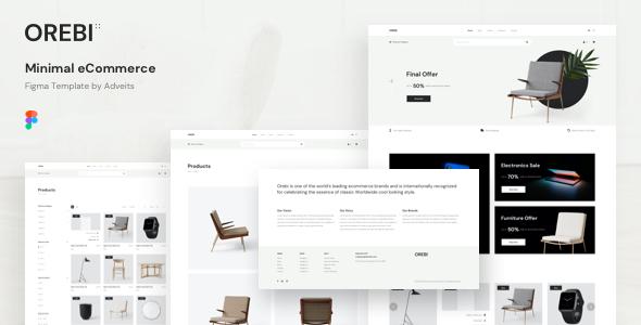 Orebi – Minimal eCommerce Figma Template