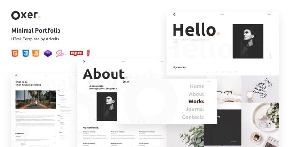 Oxer – Minimal Portfolio HTML Template