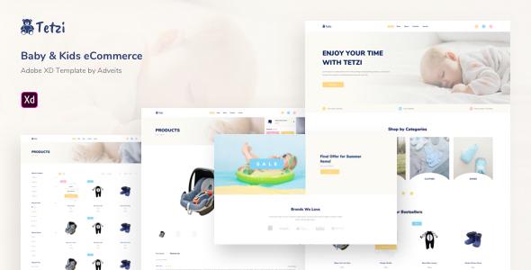 Tetzi – Baby & Kids eCommerce Adobe XD Template