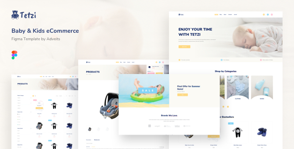 Tetzi – Baby & Kids eCommerce Figma Template