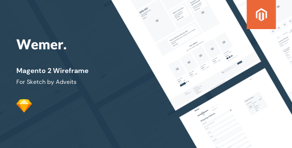 Wemer – Magento 2 Wireframe for Sketch