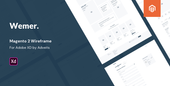 Wemer – Magento 2 Wireframe for Adobe XD