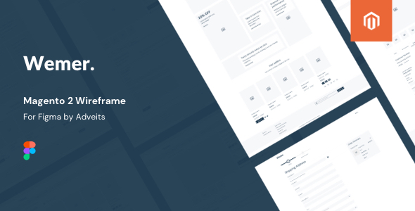 Wemer – Magento 2 Wireframe for Figma
