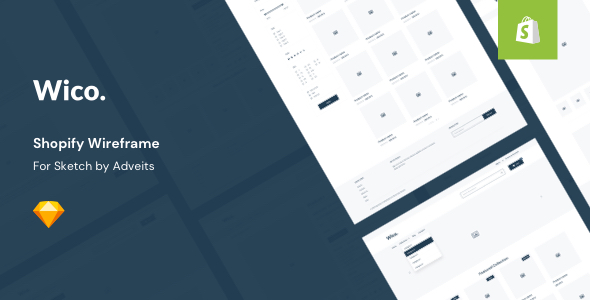 Wico – Shopify Wireframe for Sketch