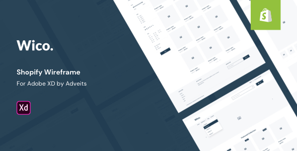 Wico – Shopify Wireframe for Adobe XD
