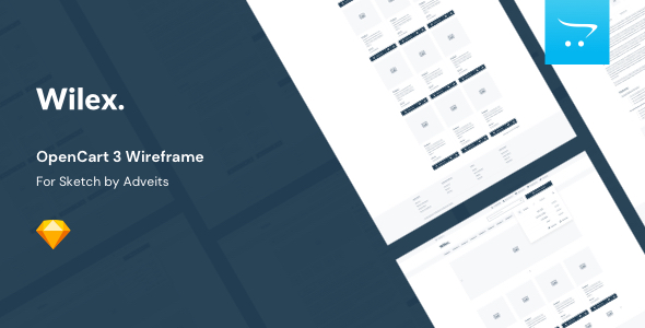 Wilex – OpenCart 3 Wireframe for Sketch
