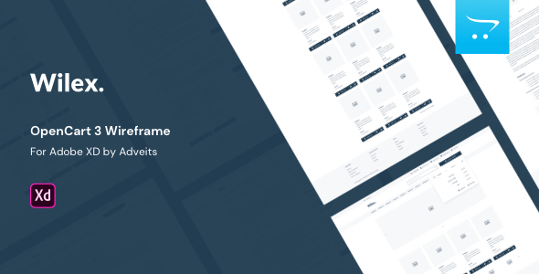 Wilex – OpenCart 3 Wireframe for Adobe XD