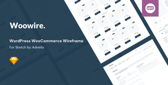 Woowire – WordPress WooCommerce Wireframe for Sketch