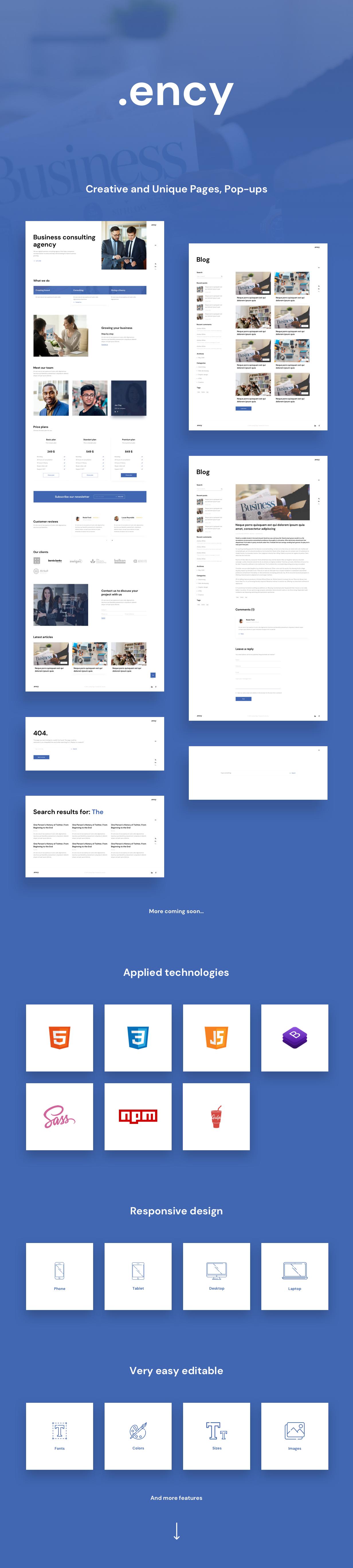 Ency HTML Presentation