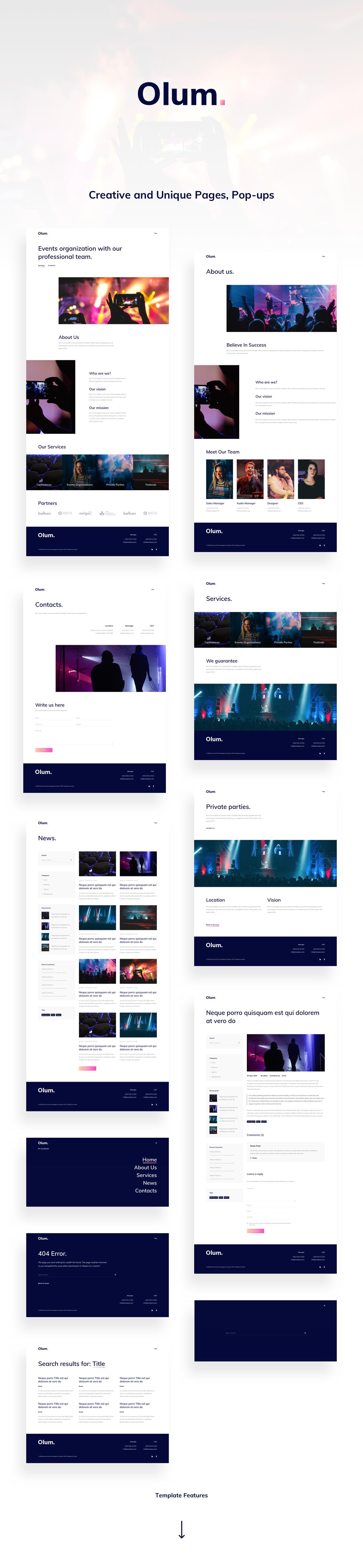 Olum Adobe XD Presentation