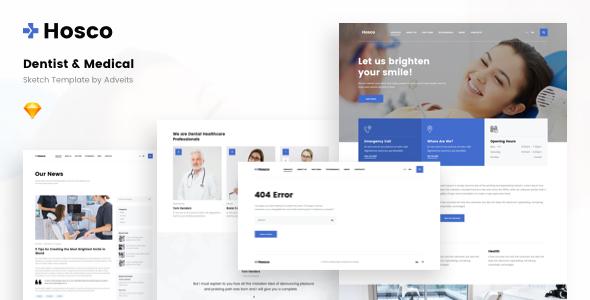 Hosco – Dentist & Medical Sketch Template