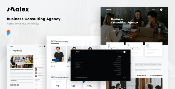Malex - Business Consulting Agency Figma Template