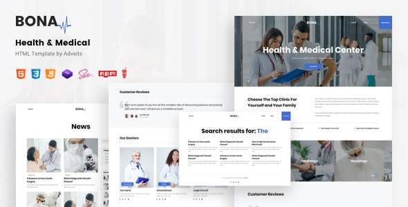 Bona – Health & Medical HTML Template