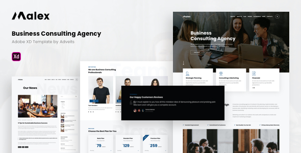 Malex – Business Consulting Agency Adobe XD Template