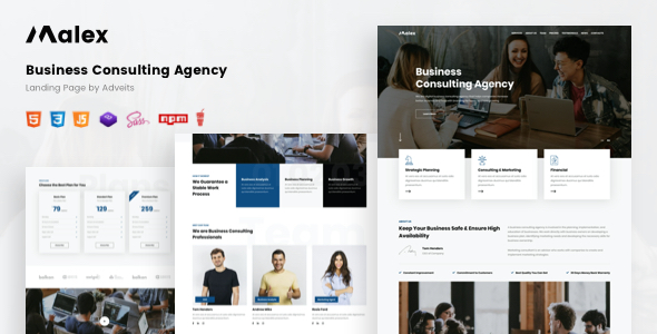 Malex – Business Consulting Agency Landing Page