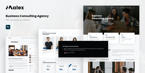 Malex – Business Consulting Agency PSD Template