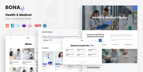 Bona – Health & Medical React JS Template