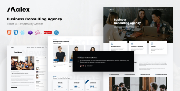 Malex – Business Consulting Agency React JS Template