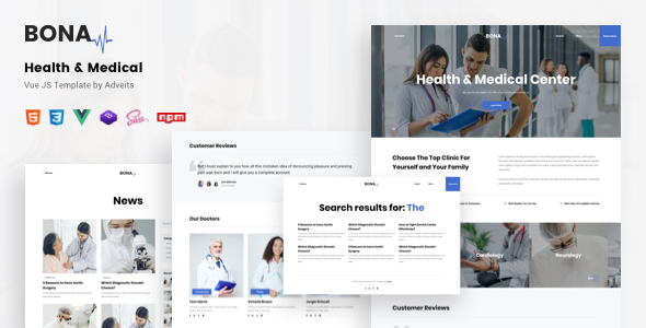 Bona – Health & Medical Vue JS Template