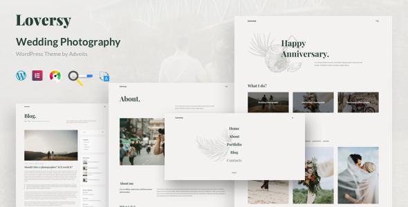 Loversy – Wedding Photography WordPress Theme