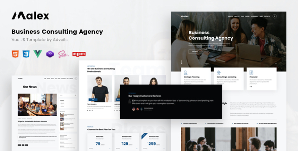 Malex – Business Consulting Agency Vue JS Template