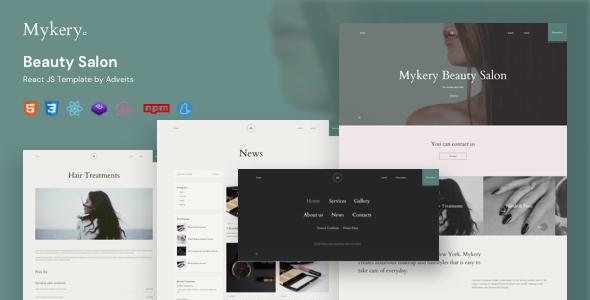 Mykery – Beauty Salon React JS Template