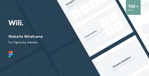 Wili – Website Wireframe for Figma
