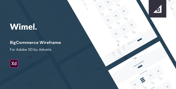 Wimel – BigCommerce Wireframe for Adobe XD