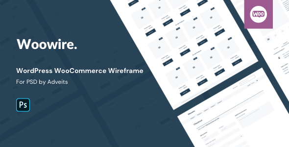 Woowire – WordPress WooCommerce Wireframe for PSD