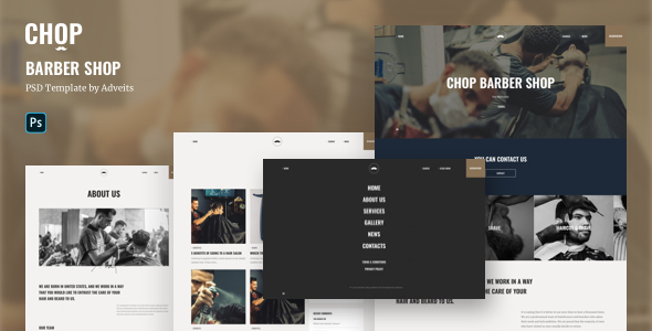 Chop – Barber Shop PSD Template