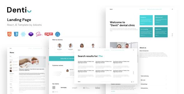Denti – Landing page React JS Template